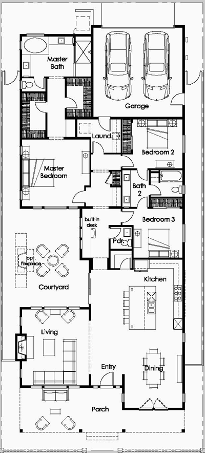 Floor Plans House Built Into Hill